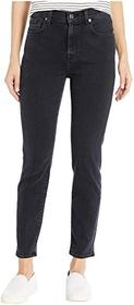 7 For All Mankind Luxe Vintage High-Waist Slim Jea