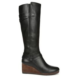 Dr. Scholl's Women's Check It Wide Calf Wedge Boot