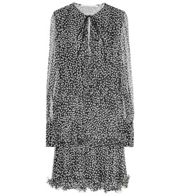Stella McCartney Polka-dot silk-blend minidress