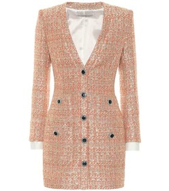 Alessandra Rich Sequined tweed minidress