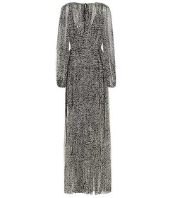 Stella McCartney Silk and metallic maxi dress