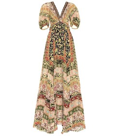 Etro Printed silk gown