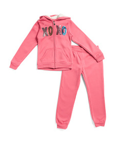 XOXO Big Girls 2pc Sequin Logo Fleece Set