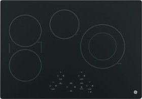 "GE - 30"" Built-In Electric Cooktop - Black on Blac"