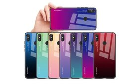 Gradient Color Tempered Glass Case for Samsung Gal