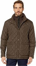 Cole Haan Diamond Quilted Jacket w/ Knit Bib