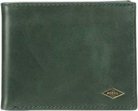 Fossil Ryan Leather Bifold Flip ID Wallet