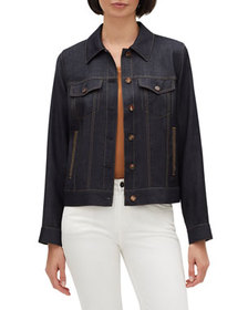 Lafayette 148 New York Emily Button-Front Wool Jac