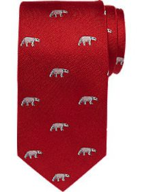 Tommy Hilfiger Red Polar Bear Narrow Tie