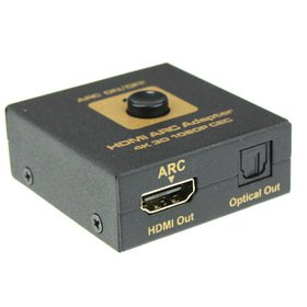 Tuscom HDMI ARC Adapter to HDMI & Optical Audio Co