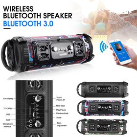 360 ° Wireless h Speaker FM MP3 AUX, USB, TF Slot