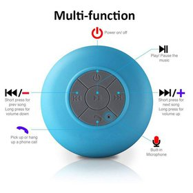 FeelGlad Mini Waterproof Bluetooth Speaker Box, 3.
