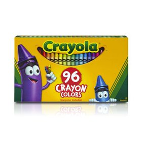 Crayola Classic Crayons with Sharpener, 96 Count
