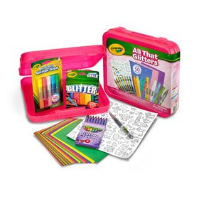 Crayola All That Glitters Art Case Coloring Set, G