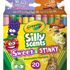 Crayola Silly Scents Sweet & Stinky Markers, 20 Co