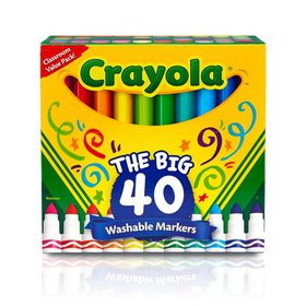 Crayola Classic Broad Line Washable Markers, 40 Co