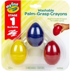 Crayola My First Toddler Crayons, Washable Palm Gr