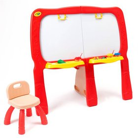 Crayola Super Duper Art Studio Easel and Desk With