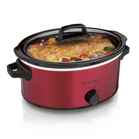 Hamilton Beach 6 Quart Slow Cooker, Red | Model# 3