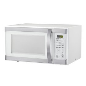 Hamilton Beach 1.1 Cu.ft White with Stainless Stee