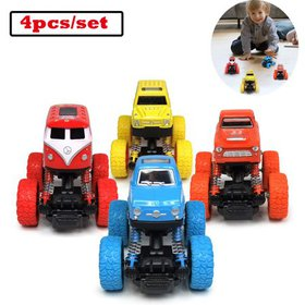WisToyz Pull Back Trucks Friction Powered Cars for