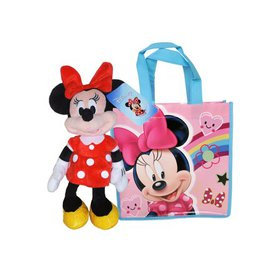 "Red Minnie Mouse 11"" Plush Doll & Gift Tote Bag 2"