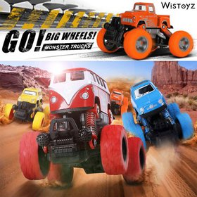Trucks Toys for Boys/Girls Friction Powered 4-Pack