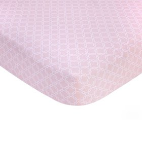 Carter's 100% Cotton Sateen Fitted Crib Sheet - Pi