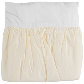 TL Care® 100% Cotton Percale Yellow Crib Bed Skirt
