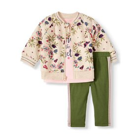 Wonder Nation Baby Girl Quilted Jacket, T-shirt, &
