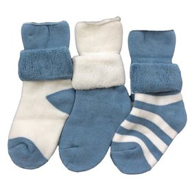 Lian LifeStyle Baby Boy's 3 Pairs Thick Combed Cot