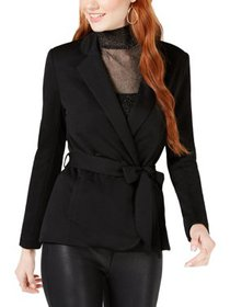 XOXO Womens Juniors Open-Front Long Sleeve Blazer