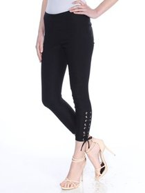XOXO Womens Black Tie Active Wear Leggings Juniors