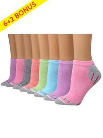 Hanes Womens' Sport Cool Comfort No Show Socks, 6+