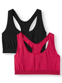 Women's Racerback Bra with Comfortflex Fit, 2 Pack