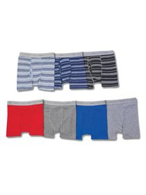 Boys' Sport Ringer Boxer Brief, 7 + 3 Bonus Pack (