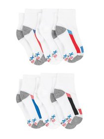 Hanes Boys Socks, 6 Pack Ankle X-Temp (Big Boys)