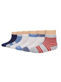 Hanes Assorted Ankle Socks, 6-pack (Baby Boys & To