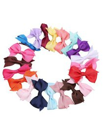 20 Pcs Girls Hair Clips Bow Ribbon Kids Alligator  on sale at Walmart