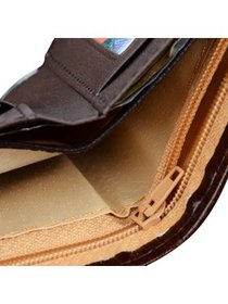 Mens Leather Wallet Money Pockets Credit/ID Cards