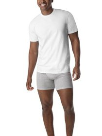 Hanes Men's ComfortSoft White Crew Neck T-Shirt 10