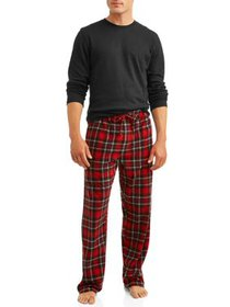 Hanes Men's Thermal Waffle Crew & Xtemp Cozy Fleec
