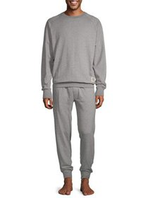 Hanes Men's 1901 Raglan Crew Top and Jogger Pant L