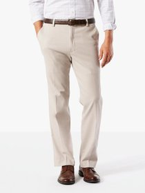 Dockers Men's Classic Flat Front Easy Khaki with S