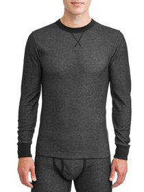 Hanes Big Men's Thermal Raschel Crew Neck Top