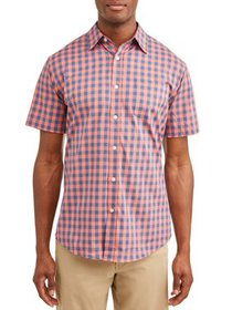 Lee Men's Short Sleeve Stretch Button Down Buffalo