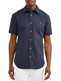 Lee Men's Short Sleeve Button Down Shirt with All-