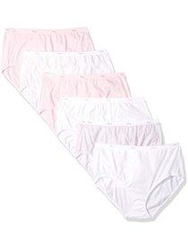 Hanes Women's cotton brief assorted panties - 6 pa