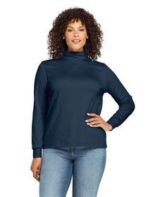 Lands' End Women's Plus Size Long Sleeve Relaxed C