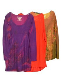 Love My Belly Purple Coral Loose Fit Abstract 3 Pc